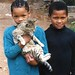 Kids with cat, South Africa