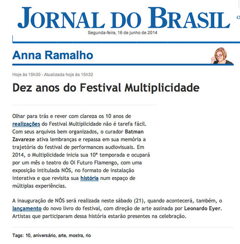jornal do brasil ana ramalho big