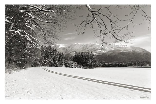 Winter Landscape Grimming Hinterberg Fuji X-Pro1 mono (c) 2016 Бернхард Эггер :: ru-moto images 0482