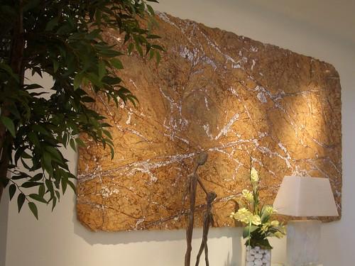 Cafe Rainforest Brown Granite Wall Art