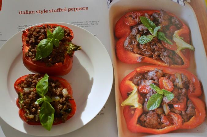 Italian style stuffed peppers