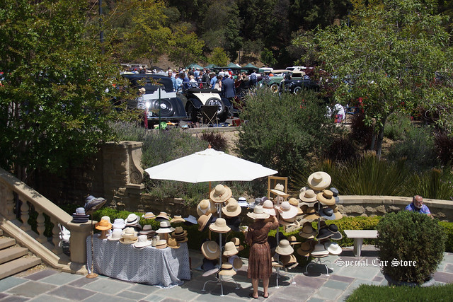 Dining at Greystone Mansion Concours d'Elegance