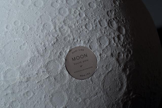 View of South Pole - ø300mm lunar globe
