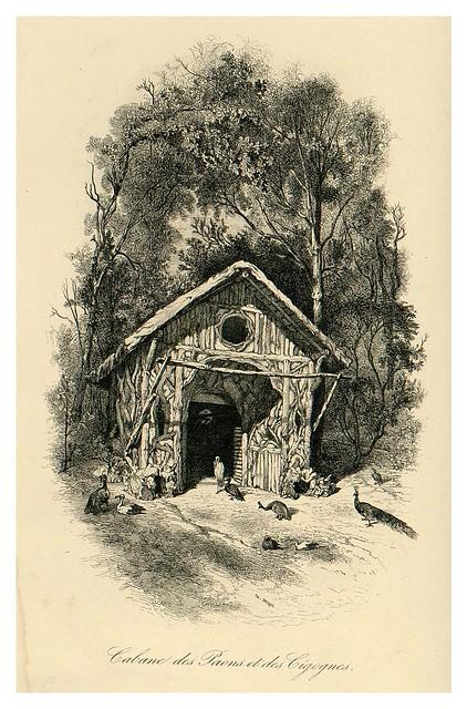 016- Cabaña de pavos reales y cigueñas-Le Jardin des Plantes-1842-P. Bernad y otros- Universitè de Strasbourg