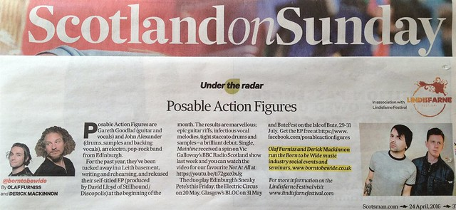 Olaf Furniss and Derick Mackinnon, Scotland On Sunday, 24 April, Posable Action Figures