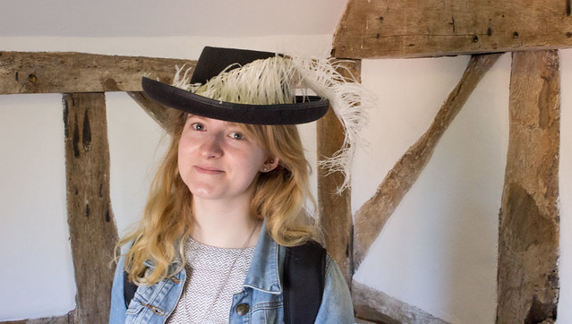 Me wearing a silly at at Boscobel House