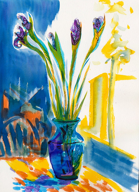 Sketchbook #94: Irises