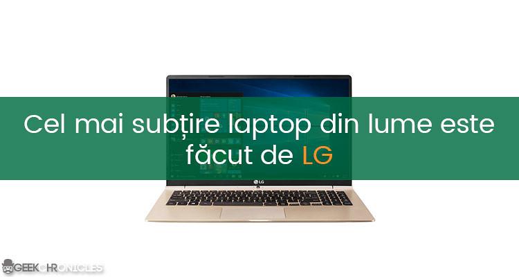 cel mai subtire laptop de 15