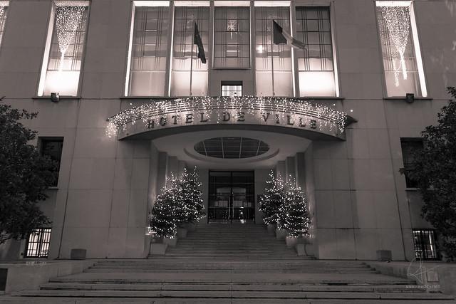 Hôtel de ville de Boulogne-Billancourt à Noël