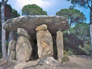 Dolmen de Pedra Gentil görüntü. catalunya dolmen vallèsoriental