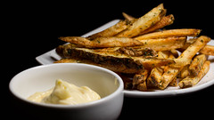Dill Fries and Black Truffle Mayonnaise