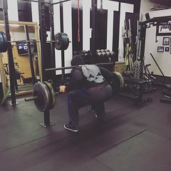 Rise and grind. Power Athlete's Barbell Club is now in session. #PowerAthlete #EmpowerYourPerformance #PowerAthleteBarbellClub #Squat #ToesForward