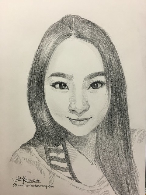 Lady portrait in pencil