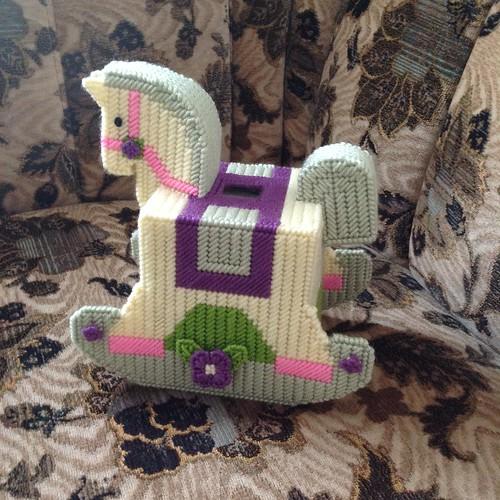 Stitched horse napkin holder