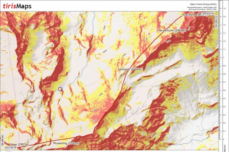 Shrnutí okolností tragické laviny na svahu hory Geier