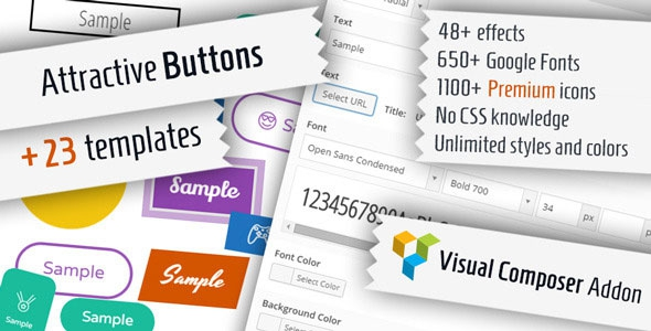 Codecanyon Attractive Buttons for Visual Composer v1.0.3