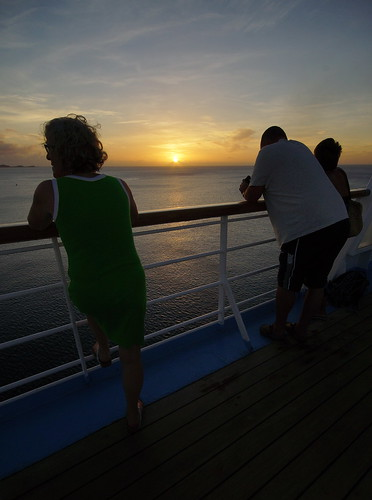 cruise sunset people holiday port island ship o dream grenada thomson po p adonia