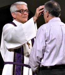 imparting ashes on Ash Wednesday