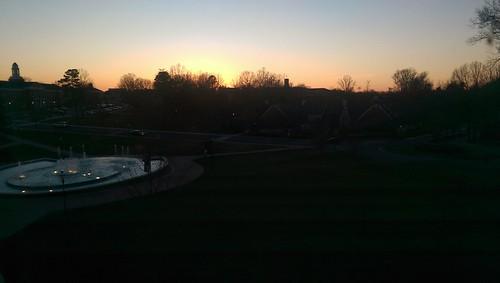 sunset fountain buildings campus 2016 elonuniversity eloncollegenc