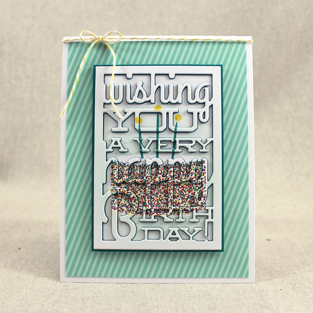 Rainbow Sprinkle Birthday Cake Card