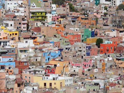 Guanajuato - gekleurde huizen