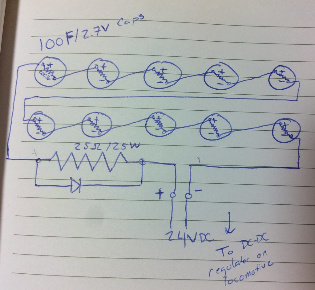 Super capacitor circuit prototype - LEGO Train Tech - Eurobricks Forums