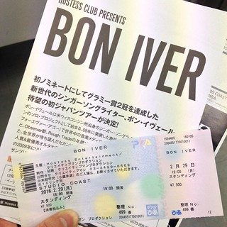 Bon Iver ticket