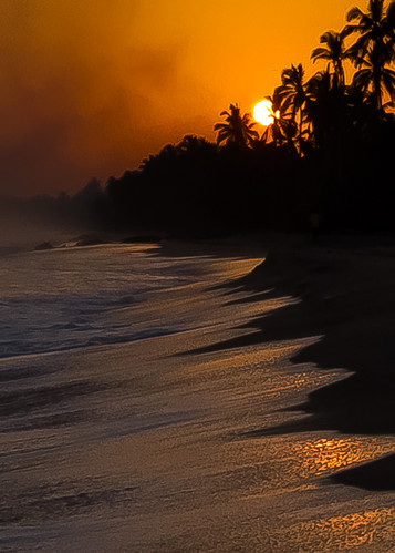 sunset beach sunrise canon colombia silhouettes 7d canon7d elmatuy leaningladder