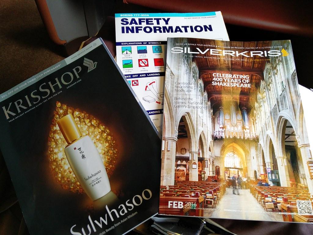 Inflight reading materials