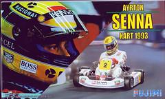 Ayrton Senna Go-Kart 1993 1:20 Scale Fujimi Model Kit #091389 Review