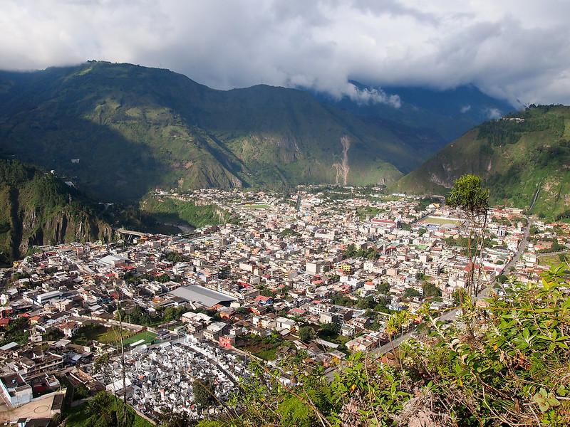 Banos, Ecuador from above