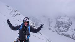 Albert na lodowcu Vadret Pers, podejscie ma Piz Palu