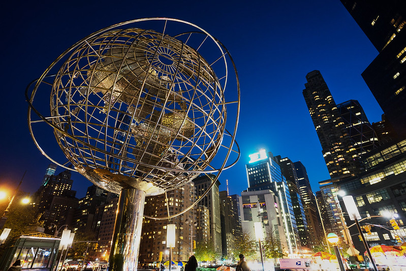 Steel Globe at Columbus Circle, New York City