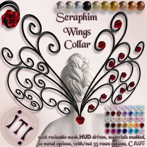 !IT! - Seraphim Wings Collar Image