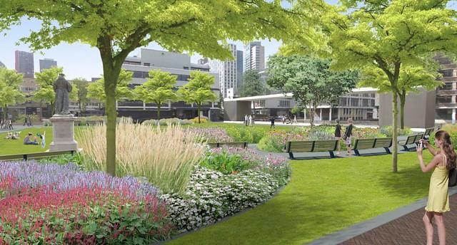 Stadspark Grotekerkplein april 2016 impressie 2