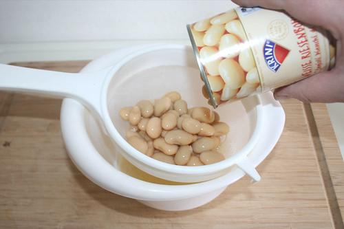 27 - Bohnen abtropfen lassen / Drain beans