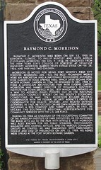 Photo of Raymond C. Morrison black plaque