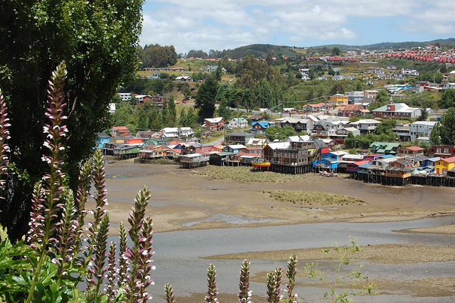 Palafitos in Castro, Chiloé, Chile