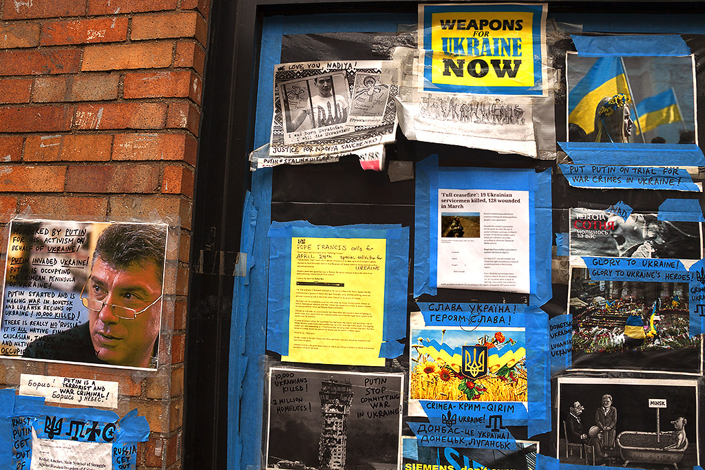 WEAPONS FOR UKRAINE NOW--St. Mark's Place, New York