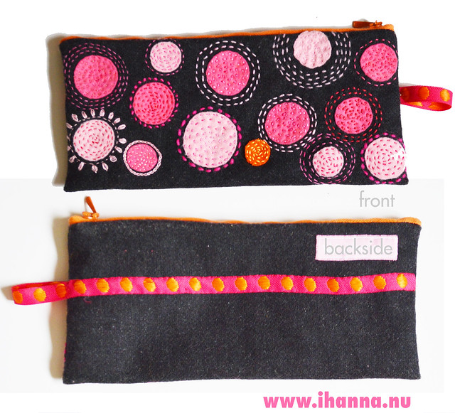 Pen Case - showing of both front and backside made by iHanna
