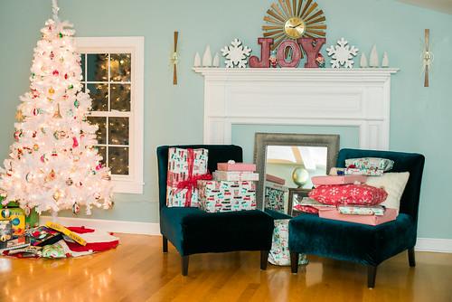 Family room Christmas morning.