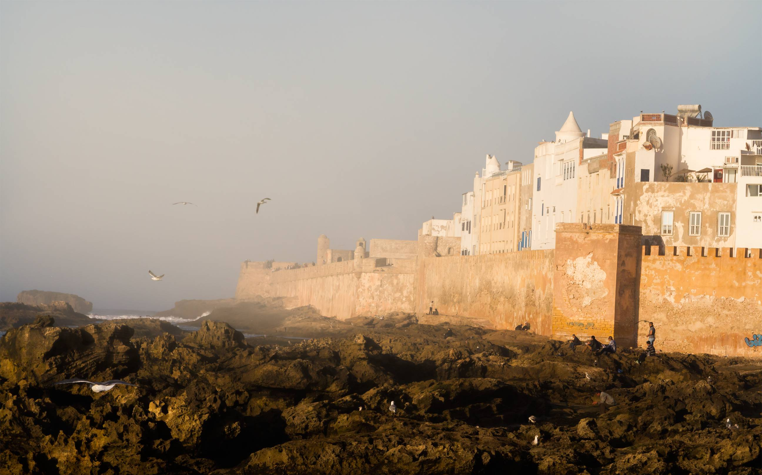 Essouira sea wall