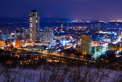 canada night cityscape nightshot hamilton
