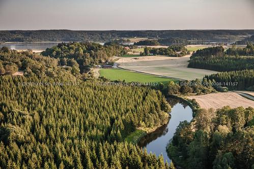 3 natur sverige hede swe ödeborg torp västragötaland flygfoto