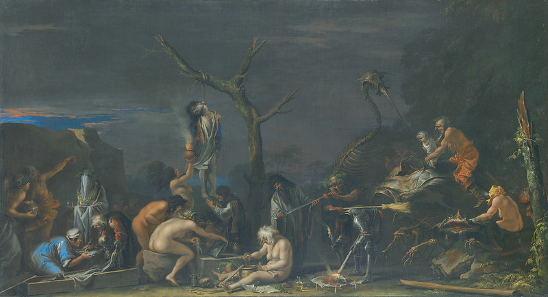 Salvator Rosa - Witches at their Incantations, 1646 (light version)