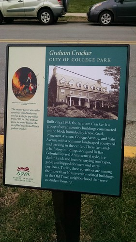 Sign Explaining the Graham Cracker Section of College Park