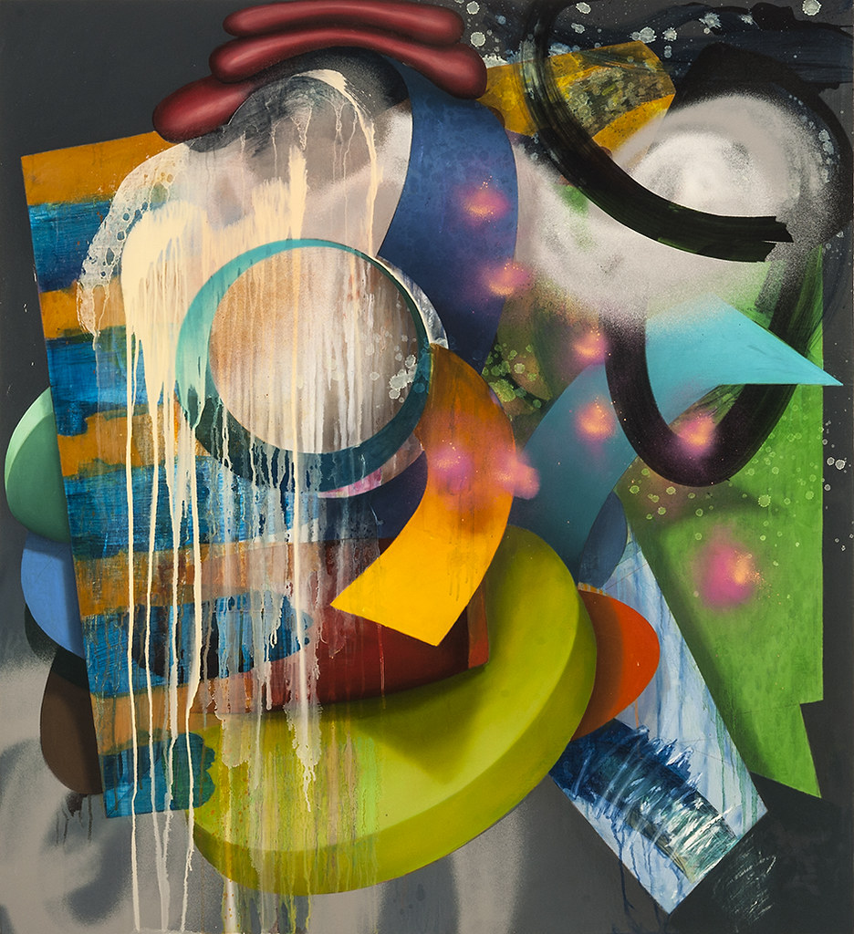 The Nature of Things #2, 2015, 46� x 42�, oil and spray paint on canvas