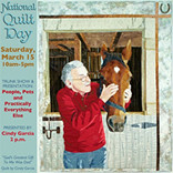 National Quilt Day, Saturday, March 15, 2014, Kenosha Public Museum, Kenosha, WI