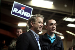 Rand Paul with supporter