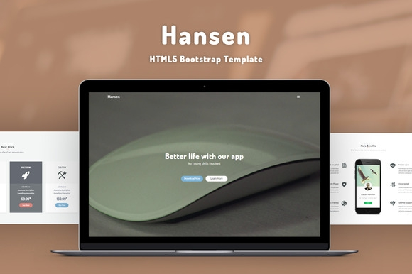 Creativemarket Hansen v1.0 - HTML5 Template